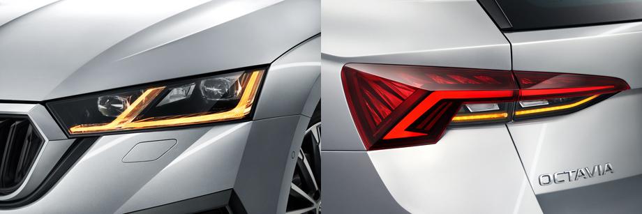 Стандартно устанавливаемые светодиодные фары за небольшую доплату могут стать матричными, которые не слепят от водителей встречных автомобилей. Фонари в машине также светодиодные в любой модификации.