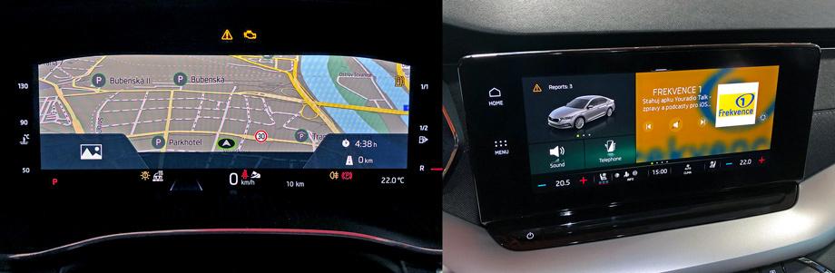Ещё одна новация - это виртуальный приборный щиток. Однако, как будет выглядеть «Октавия», получившая аналоговые шкалы, всё ещё неизвестно: подобных автомобилей на презентации показано не было. Климат-контролем теперь можно управлять тачскрином мульти-медийной системы.