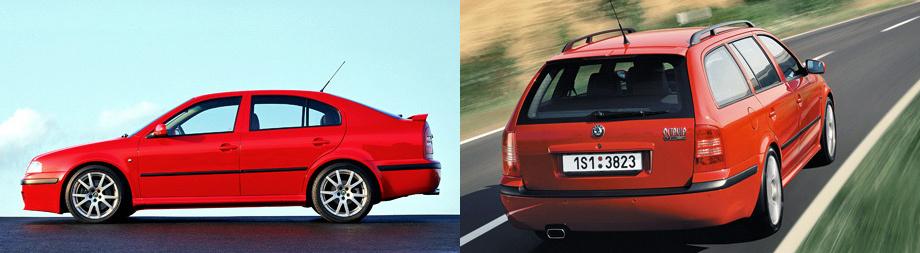Истинной жемчужиной семейства можно назвать модель Octavia RS. Оригинальная радиаторная решетка и бамперы, колёса увеличенного размера с широкими шинами и отшлифованные манеры езды - вот что послужило замечательным антуражем для предоставления улучшенных скоростных характеристик. На ускорение до сотни тратилось всего 7,9 секунд, при этом авто разгонялось до максимальной скорости в 235 км/ч.