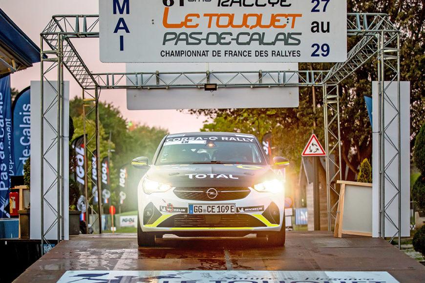 Успешная Первая вылазка на ралли Opel Corsa-e
